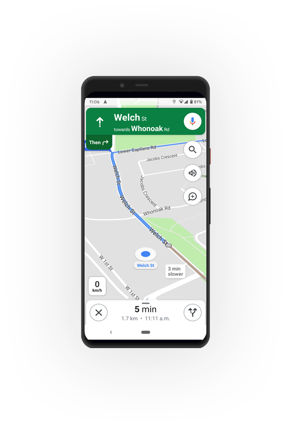 Driver App with Turn by Turn directions